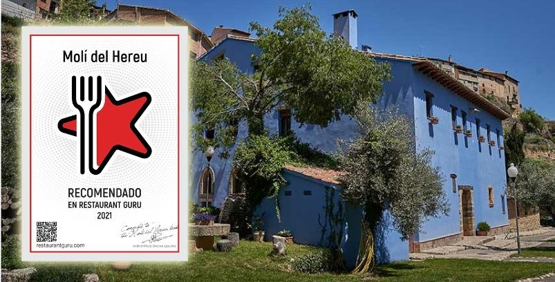 Recomendación Restaurant Guru a Hotel Molí del Hereu